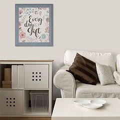 Floral 'Every Day Is A Gift' Framed Wall Decor