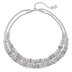 Dana Buchman Silver Tone Double Strand Collar Necklace