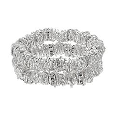 Dana Buchman Circle Link Stretch Bracelet Set