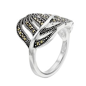 Le Vieux Marcasite Feather Ring