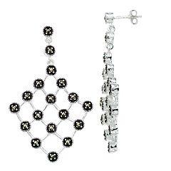 Le Vieux Marcasite Net Drop Earrings