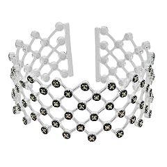 Le Vieux Marcasite Lattice Cuff Bracelet