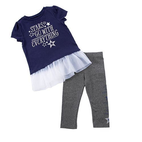 Toddler Girl Dallas Cowboys Peppy Tee & Pants Set