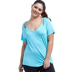 Plus Size Balance Collection Riley Mesh Cutout Top