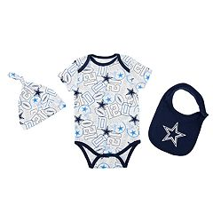 Baby Dallas Cowboys 3-Piece Bodysuit Set