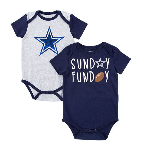 Baby Dallas Cowboys 2 Pack Bodysuit Set
