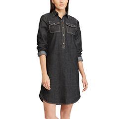 Petite Chaps Jean Shirt Dress