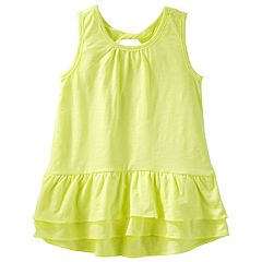 Girls 4-12 OshKosh B'gosh® Ruffled Twist Back Tunic Top