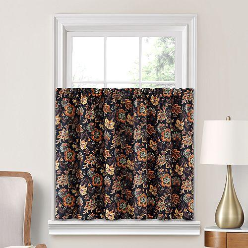 Decorative 2-Pack Arruda Floral Window Tier Curtains