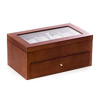 Bey-Berk Initial Monogrammed 20-Slot Watch Box