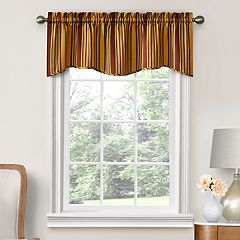 Decorative Stellar Stripe Window Valance