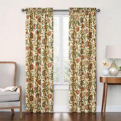 Decorative 2-Pack Mardin Floral Window Curtains