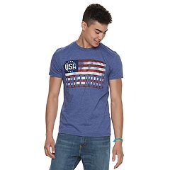 Men's Distressed Flag Tee