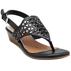 c2fb5d40720431 Rampage Sachin Women's Sandals. Black Cognac White. sale