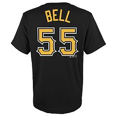 Boys 4-18 Pittsburgh Pirates Josh Bell Player Name and Number Tee