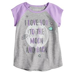 Toddler Girl Jumping Beans® Glittery Moon Graphic Tee