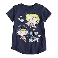 Toddler Girl Jumping Beans® Superhero Glittery Graphic Tee