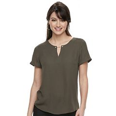 Women's Apt. 9® Keyhole Georgette Top