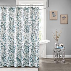 Madison Park Lyla Botanical Print Shower Curtain