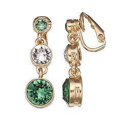 Dana Buchman Linear Drop Clip-On Earrings