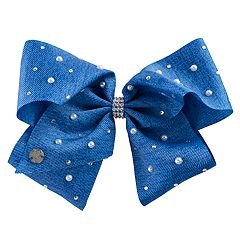 Girls 4-16 JoJo Siwa Rhinestone & Simulated Pearl Denim Hair Bow