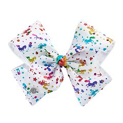 Girls 4-16 JoJo Siwa Rhinestone & Rainbow Unicorn Hair Bow