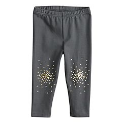 Baby Girl Jumping Beans® Gold Foil Dot Legging