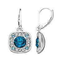 Dana Buchman Blue Crystal Square Drop Earrings