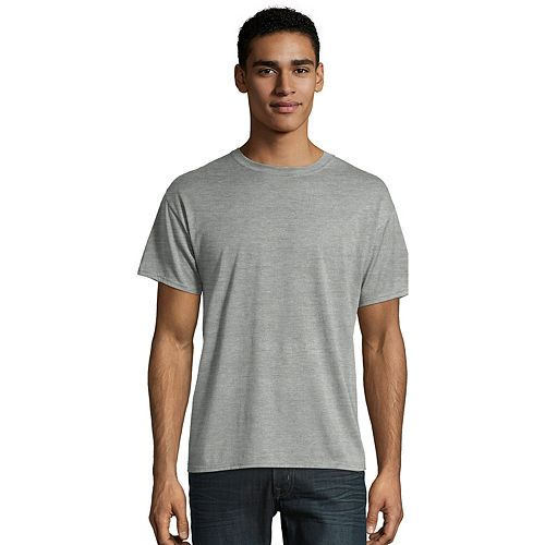Men's Hanes Ultimate X-Temp FreshIQ Textured Slubbed Super Soft Crewneck Sleep Tee