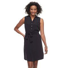 Women's Dana Buchman Sateen Shirt Dress
