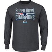 Men's New EnglandPatriots Super Bowl LII Champions Sudden Impact Long-Sleeve Tee