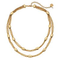 Dana Buchman Gold Tone Double Strand Necklace