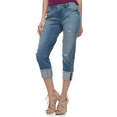 Women's Jennifer Lopez Ripped Midrise Boyfriend Jeans