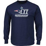 Men's New EnglandPatriots Super Bowl LII Champions Fanfare Long-Sleeve Tee