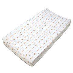 TL Care Feather Print Fitted Contoured Changing Table Pad Cover