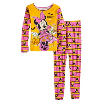 Disney's Minnie Mouse Girls 4-8 Glow-in-the-Dark Halloween Top & Bottoms Pajama Set