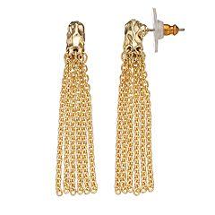 Dana Buchman Chain Fringe Drop Earrings