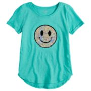 Girls 7-16 & Plus Size SO® Flip Sequin Tee