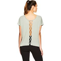 Women's Gaiam Eden Open Back Yoga Tee