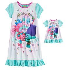 DreamWorks Trolls Poppy & Branch Girls 4-18 'Rainbowista' Nightgown & Doll Gown Set