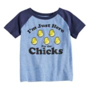 "Toddler Boy Jumping Beans® ""I'm Just Here For The Chicks"" Raglan Graphic Tee"