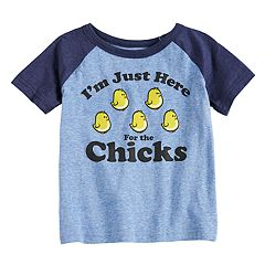 Toddler Boy Jumping Beans® 'I'm Just Here For The Chicks' Raglan Graphic Tee