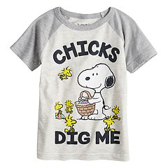 Toddler Boy Jumping Beans® Peanuts 'Chicks Dig Me' Snoopy & Woodstock Graphic Tee