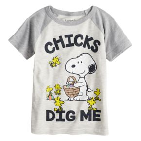 "Toddler Boy Jumping Beans® Peanuts ""Chicks Dig Me"" Snoopy & Woodstock Graphic Tee"