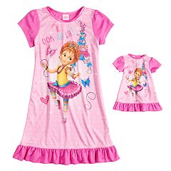 Girls 4-8 Fancy Nancy Nightgown & Doll Gown Set