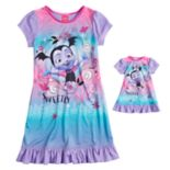 "Disney Junior Vampirina ""Sweetly Vee"" Girls 4-8 Nightgown & Doll Gown Set"