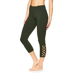 Women's Gaiam Shilo Strappy Yoga Midrise Capri Leggings