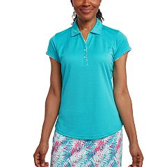 Women's Pebble Beach Pindot Short Sleeve Golf Polo