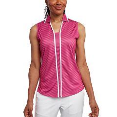 Women's Pebble Beach Printed Jersey Sleeveless Golf Polo