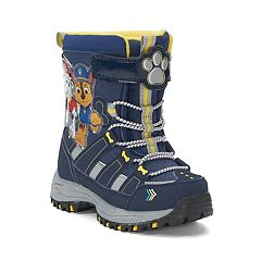 Paw Patrol Chase & Marshall Toddler Boys' Water Resistant Light Up Winter Boots